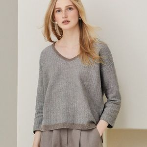 Poetry Textured Cotton Linen Sweater